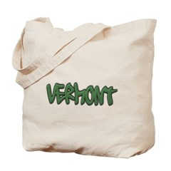 Vermont Graffiti Canvas Tote Bag