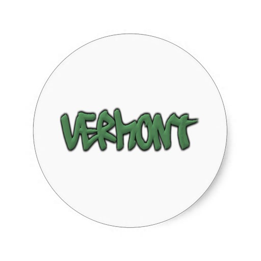 Vermont Graffiti Classic Round Sticker