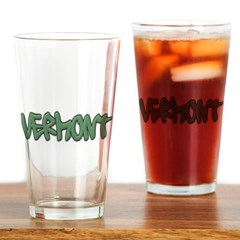 Vermont Graffiti Drinking Glass
