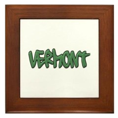 Vermont Graffiti Framed Tile