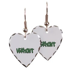 Vermont Graffiti Heart Earrings