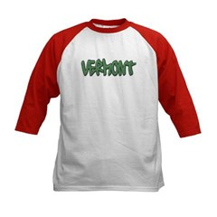 Vermont Graffiti Kids Baseball Jersey T-Shirt