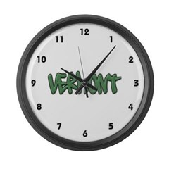 Vermont Graffiti Large Wall Clock