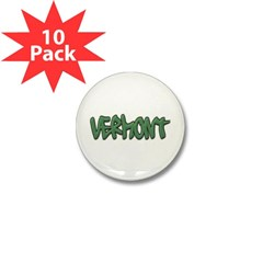 Vermont Graffiti Mini Button (10 pack)
