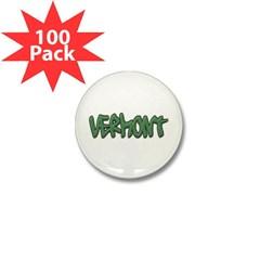 Vermont Graffiti Mini Button (100 pack)