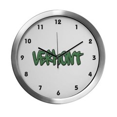 Vermont Graffiti Modern Wall Clock