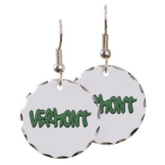 Vermont Graffiti Round Earrings