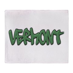 Vermont Graffiti Throw Blanket