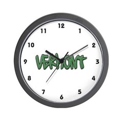 Vermont Graffiti Wall Clock