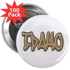 "Idaho Graffiti 2.25"" Button (100 pack)"