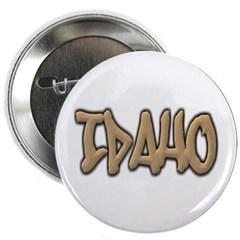 "Idaho Graffiti 2.25"" Button"