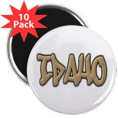 "Idaho Graffiti 2.25"" Magnet (10 pack)"
