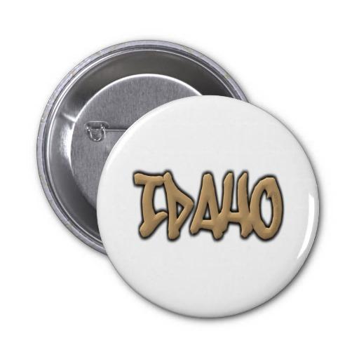 Idaho Graffiti 2 Inch Round Button