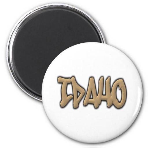 Idaho Graffiti 2 Inch Round Magnet
