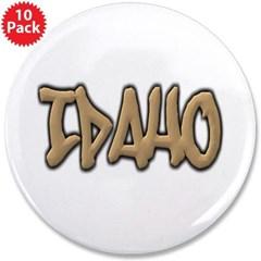 "Idaho Graffiti 3.5"" Button (10 pack)"