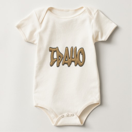 Idaho Graffiti Baby American Apparel Organic Bodysuit