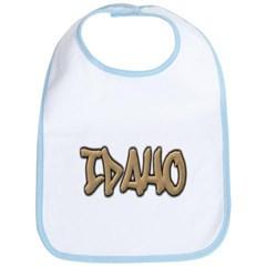 Idaho Graffiti Baby Bib