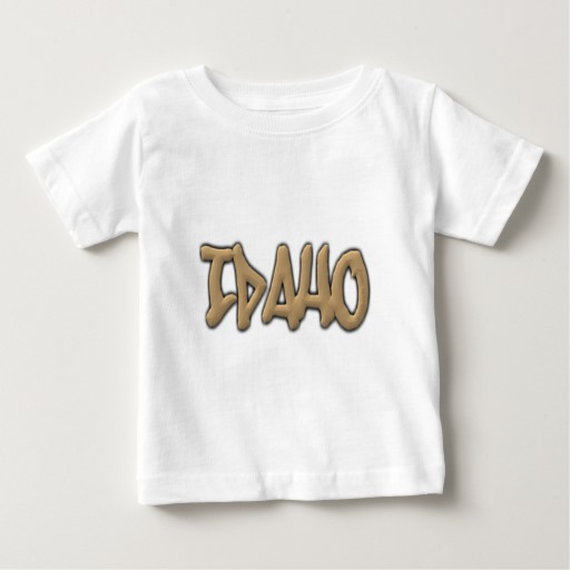 Idaho Graffiti Baby Fine Jersey T-Shirt