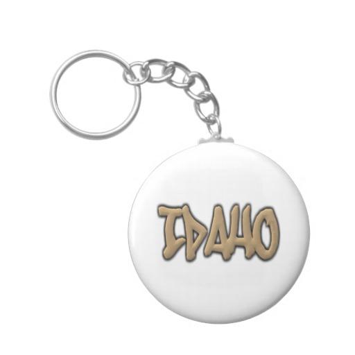 Idaho Graffiti Basic Button Keychain