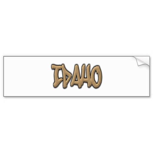 Idaho Graffiti Bumper Sticker