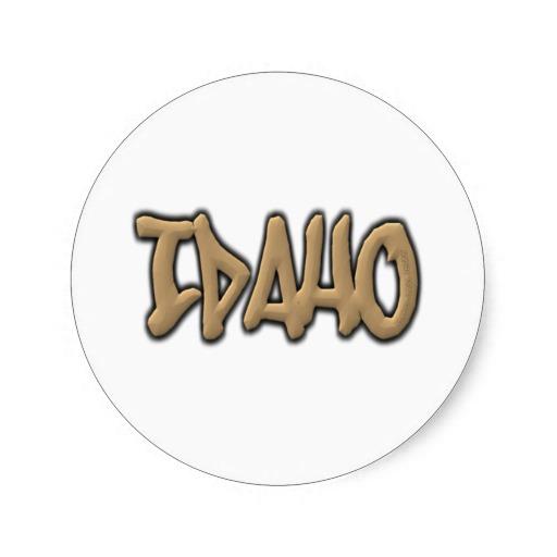 Idaho Graffiti Classic Round Sticker