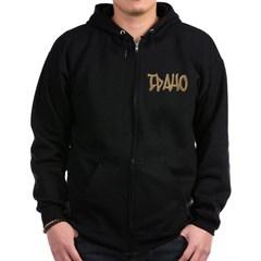Idaho Graffiti Dark Zip Hoodie