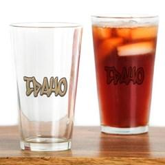 Idaho Graffiti Drinking Glass