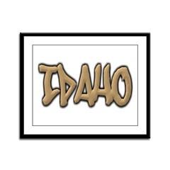Idaho Graffiti Framed Panel Print
