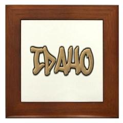 Idaho Graffiti Framed Tile