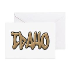 Idaho Graffiti Greeting Card