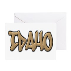 Idaho Graffiti Greeting Cards (Pk of 10)