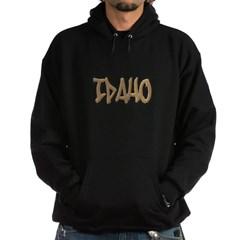 Idaho Graffiti Hooded Dark Sweatshirt