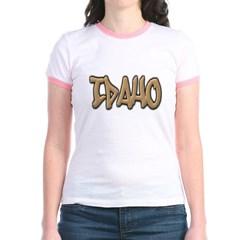 Idaho Graffiti Junior Ringer T-Shirt