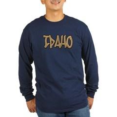 Idaho Graffiti Long Sleeve Dark T-Shirt