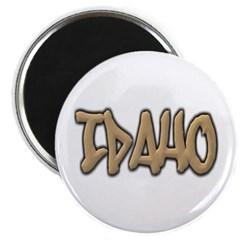 Idaho Graffiti Magnet