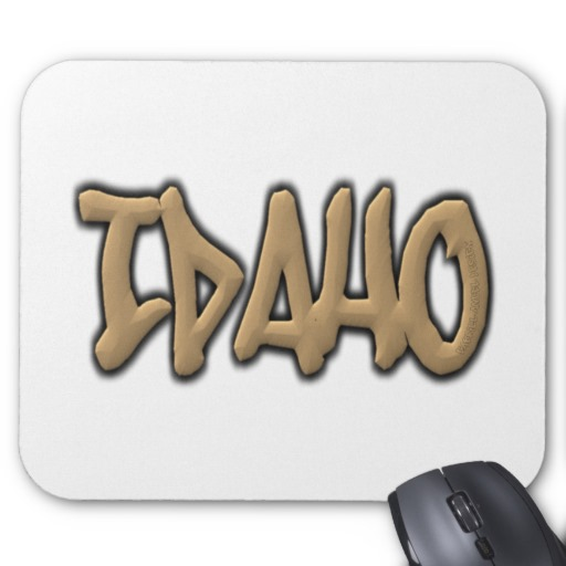 Idaho Graffiti Mousepad