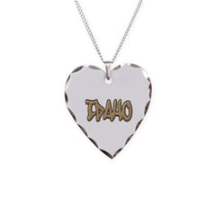 Idaho Graffiti Necklace with Heart Pendant