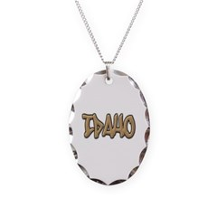 Idaho Graffiti Necklace with Oval Pendant