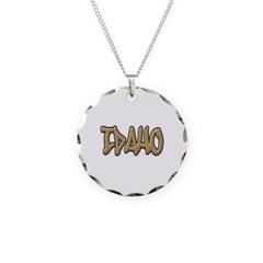 Idaho Graffiti Necklace with Round Pendant