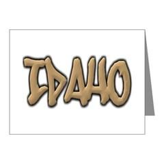 Idaho Graffiti Note Cards (Pk of 10)