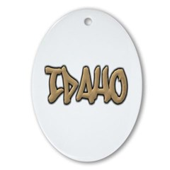 Idaho Graffiti Ornament (Oval)