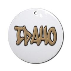 Idaho Graffiti Ornament (Round)