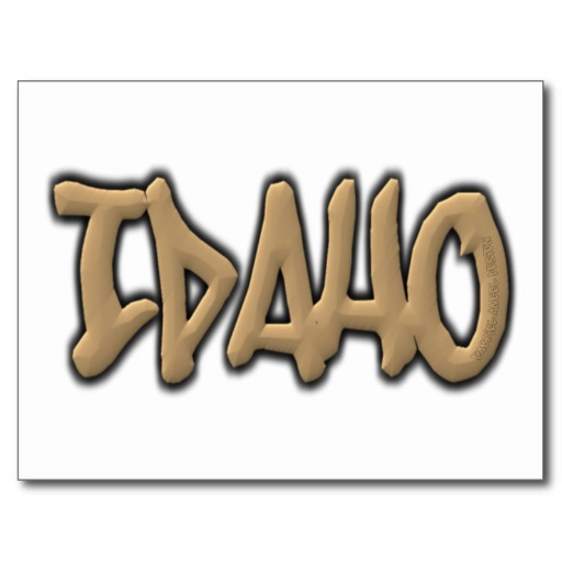 Idaho Graffiti Postcard