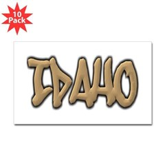 Idaho Graffiti Rectangle Decal 10 Pack