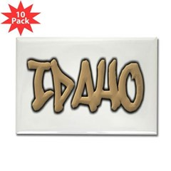 Idaho Graffiti Rectangle Magnet (10 pack)
