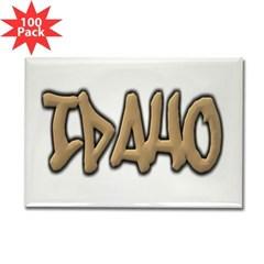 Idaho Graffiti Rectangle Magnet (100 pack)