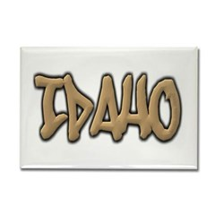 Idaho Graffiti Rectangle Magnet