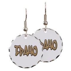 Idaho Graffiti Round Earrings