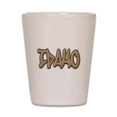 Idaho Graffiti Shot Glass