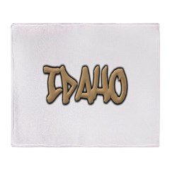 Idaho Graffiti Throw Blanket